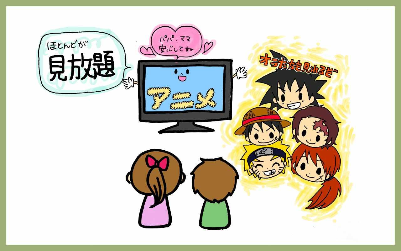 アニメ映画、テレビアニメシリーズだって豊富に楽しめる!