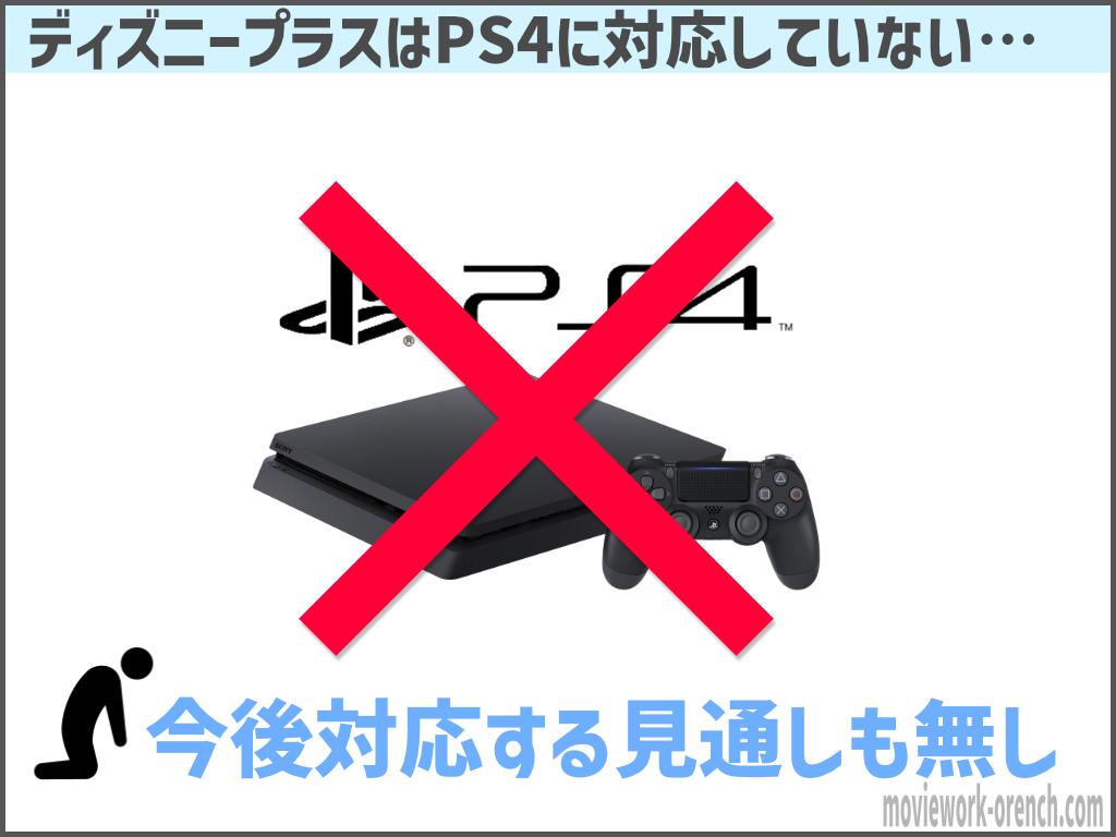 ディズニープラスはPS4に非対応